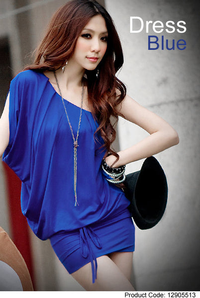 Elegant one shoulder blue dress - Elizabeth Accessories, apparels - Sunglasses and Eyeglasses