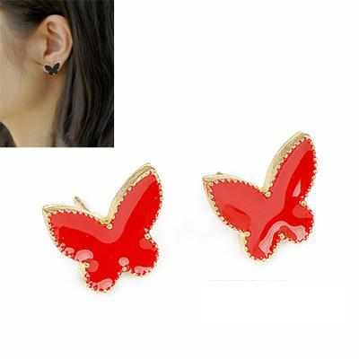 butterfly charm design studs earrings - Elizabeth Accessories, Earrings - Sunglasses and Eyeglasses