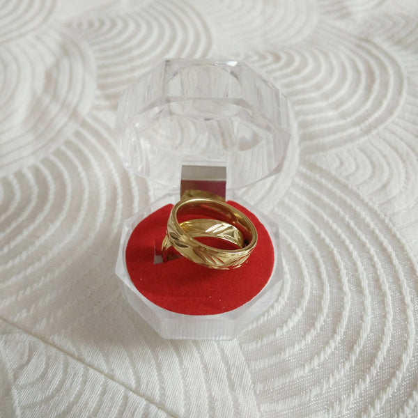 Stainless steel carved couple ring - Elizabeth Accessories, Ring - Sunglasses and Eyeglasses