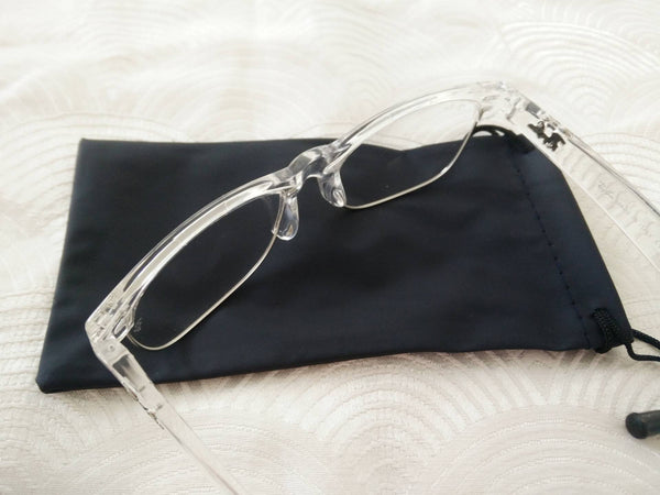 Semi rimless transparent frame glasses - Elizabeth Accessories, Sunnies, Shades, Sunglasses - Sunglasses and Eyeglasses