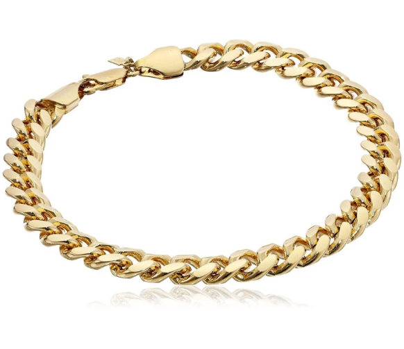 Stainless steel thick chain bracelet - Elizabeth Accessories, Stainless steel jewelry - fashion Accessories