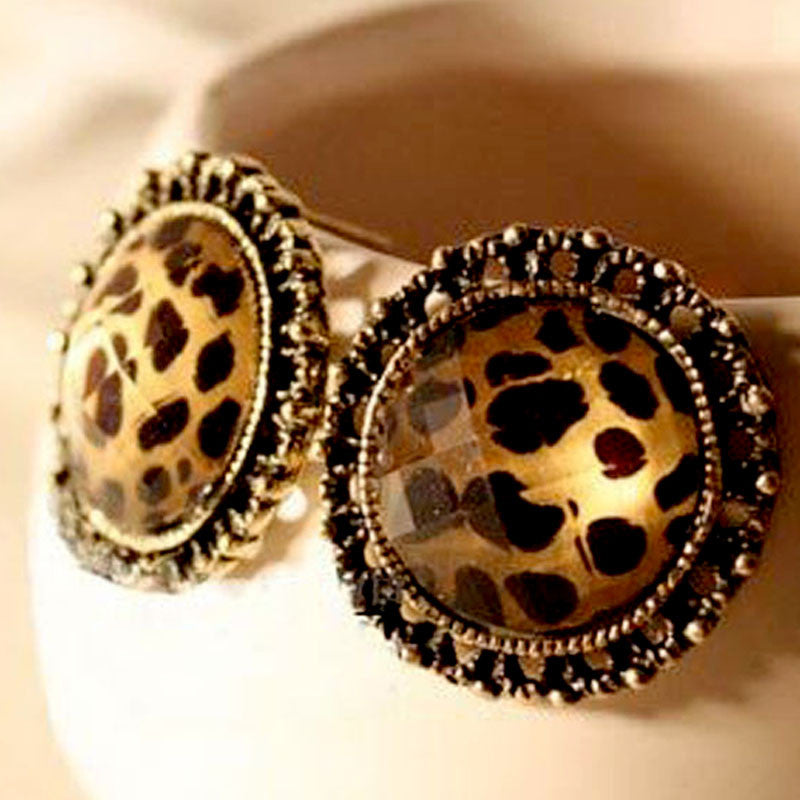 Korean style leopard print earrings - Elizabeth Accessories, Earrings - Sunglasses and Eyeglasses