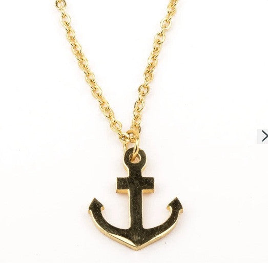 Stainless steel anchor necklace - Elizabeth Accessories, Stainless steel jewelry - Sunglasses and Eyeglasses