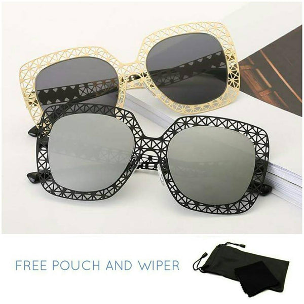 Polarized Korean Style Flat Metal Sunglasses - Elizabeth Accessories, Sunnies, Shades, Sunglasses - Sunglasses and Eyeglasses
