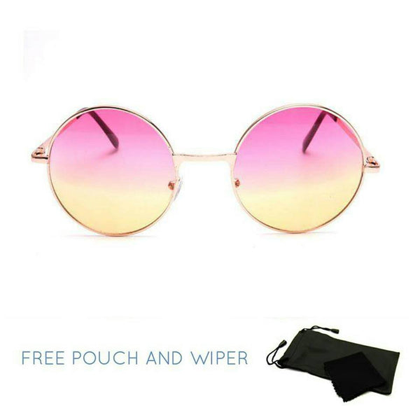 Pink and yellow ombre round sunglasses - Elizabeth Accessories, Sunnies, Shades, Sunglasses - Sunglasses and Eyeglasses