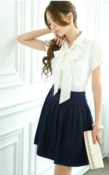 Classy Broadcloth bow tie dress - Elizabeth Accessories, apparels - fashion Accessories