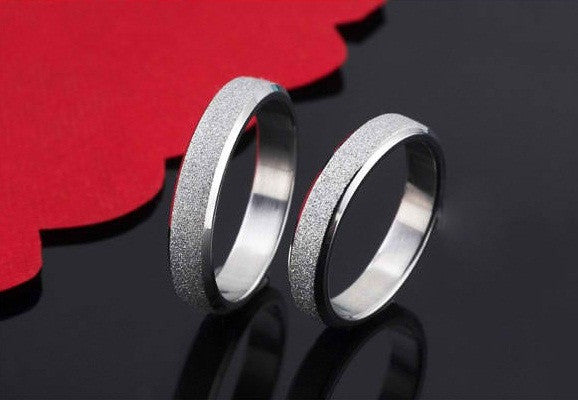 stainless steel Screen couple silver ring - Elizabeth Accessories, Stainless steel couple ring - Sunglasses and Eyeglasses