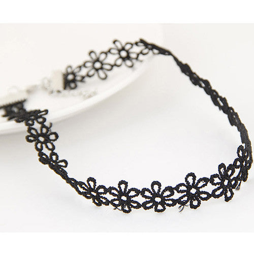 Flower lace choker - Elizabeth Accessories, choker - Sunglasses and Eyeglasses