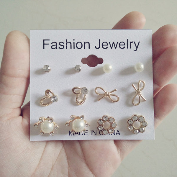 6 earrings stud set A6 - Elizabeth Accessories, Earrings - Sunglasses and Eyeglasses