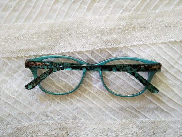 Turquoise printed specs - Elizabeth Accessories, Sunnies, Shades, Sunglasses - Sunglasses and Eyeglasses