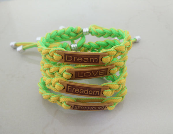 Statement paracord bracelet - green - Elizabeth Accessories, Bracelet - Sunglasses and Eyeglasses