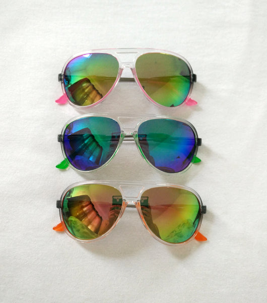 Neon color aviator sunglasses - Elizabeth Accessories, Sunnies, Shades, Sunglasses - fashion Accessories