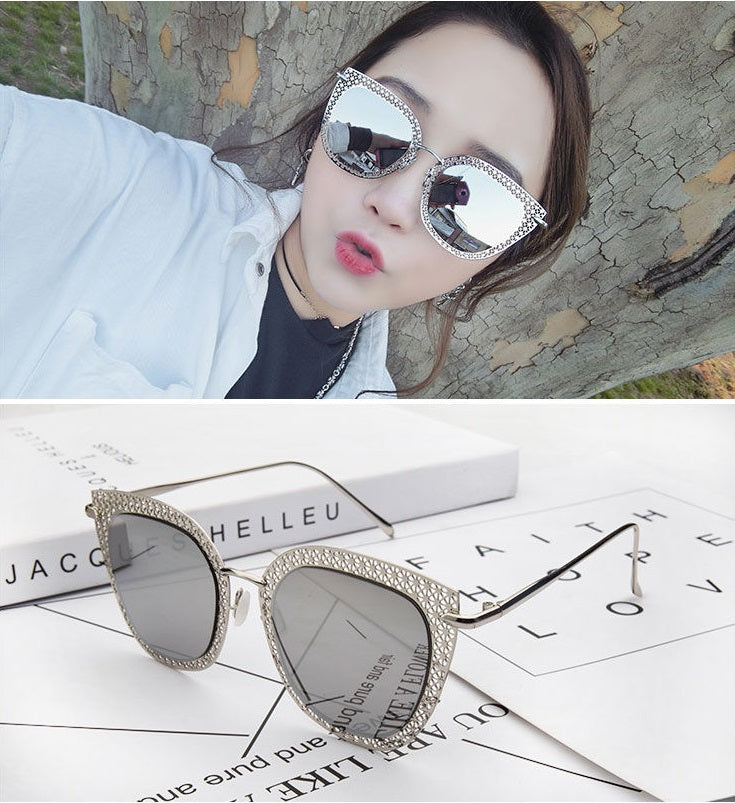 Polarized flat metal cats eye sunglasses - Elizabeth Accessories, Sunnies, Shades, Sunglasses - Sunglasses and Eyeglasses