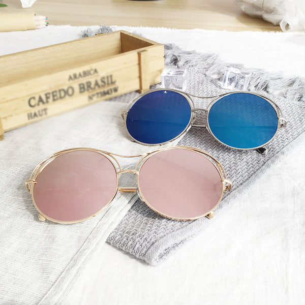 Polarized Korean style round metal sunglasses - Elizabeth Accessories, Sunnies, Shades, Sunglasses - Sunglasses and Eyeglasses