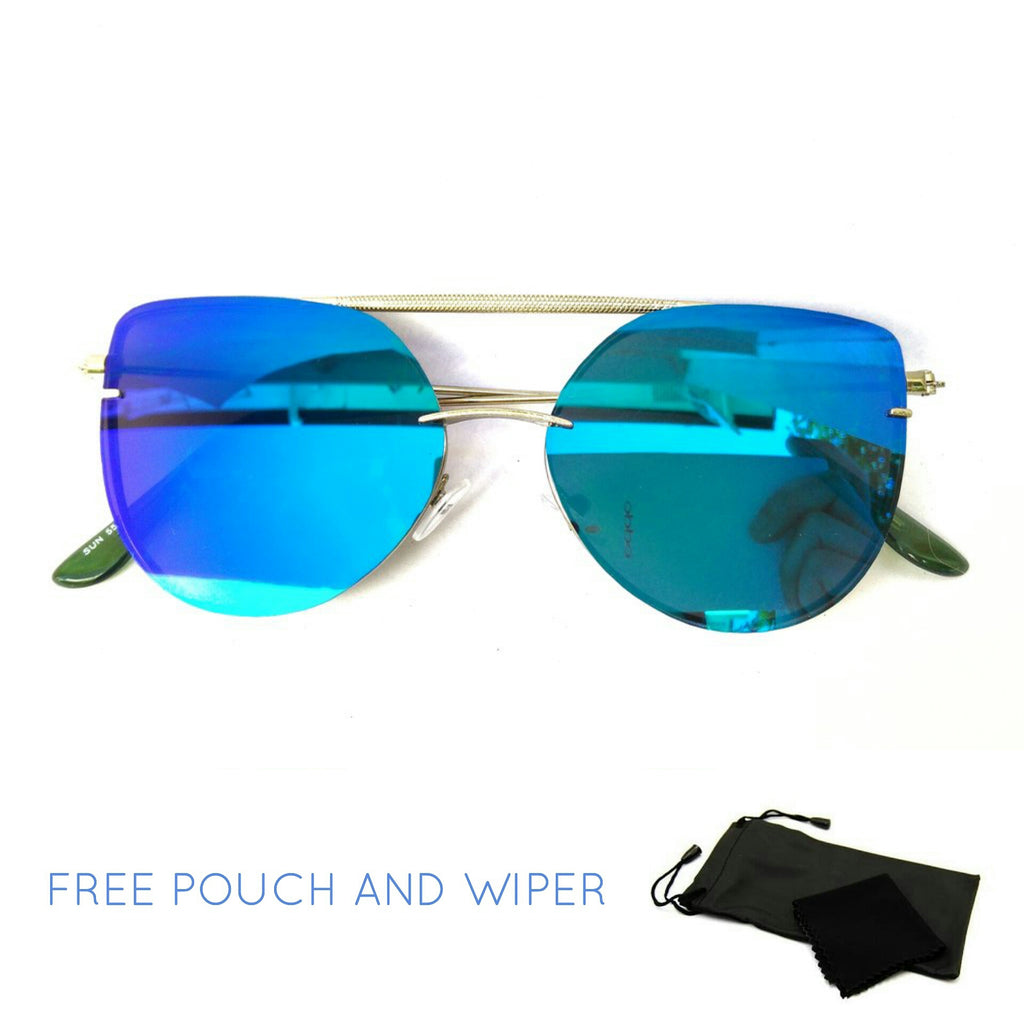 Premium tin metal blue cats eye glasses - Elizabeth Accessories, Sunnies, Shades, Sunglasses - Sunglasses and Eyeglasses