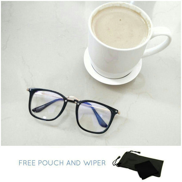 Premium anti rad rectangle metal side specs - Elizabeth Accessories, Sunnies, Shades, Sunglasses - Sunglasses and Eyeglasses
