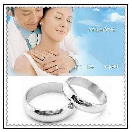 Smooth SS couple ring - Elizabeth Accessories, Stainless steel couple ring - fashion Accessories