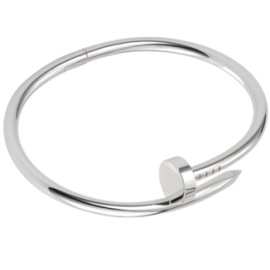 Stainless steel twisted nail bangle - Elizabeth Accessories, Stainless steel jewelry - Sunglasses and Eyeglasses