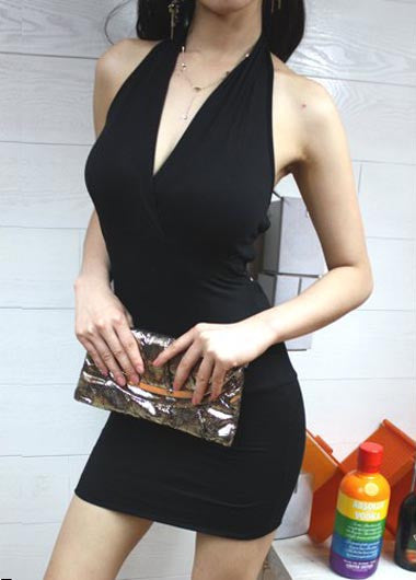 Sexy Black Open Back Halter Dress - Elizabeth Accessories, apparels - Sunglasses and Eyeglasses