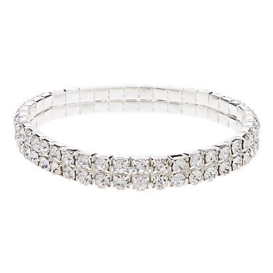 Double Layer Czech Diamond Bracelet - Elizabeth Accessories, Bracelet - Sunglasses and Eyeglasses