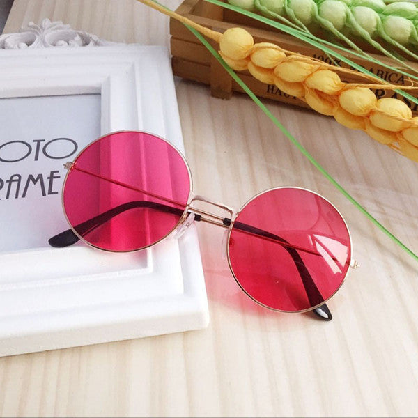 Round red sunnies