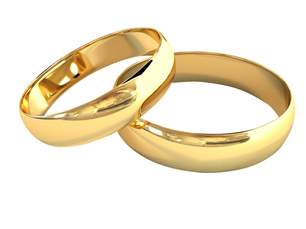 Premium gold band stainless steel couple ring – Elizabeth Accessories