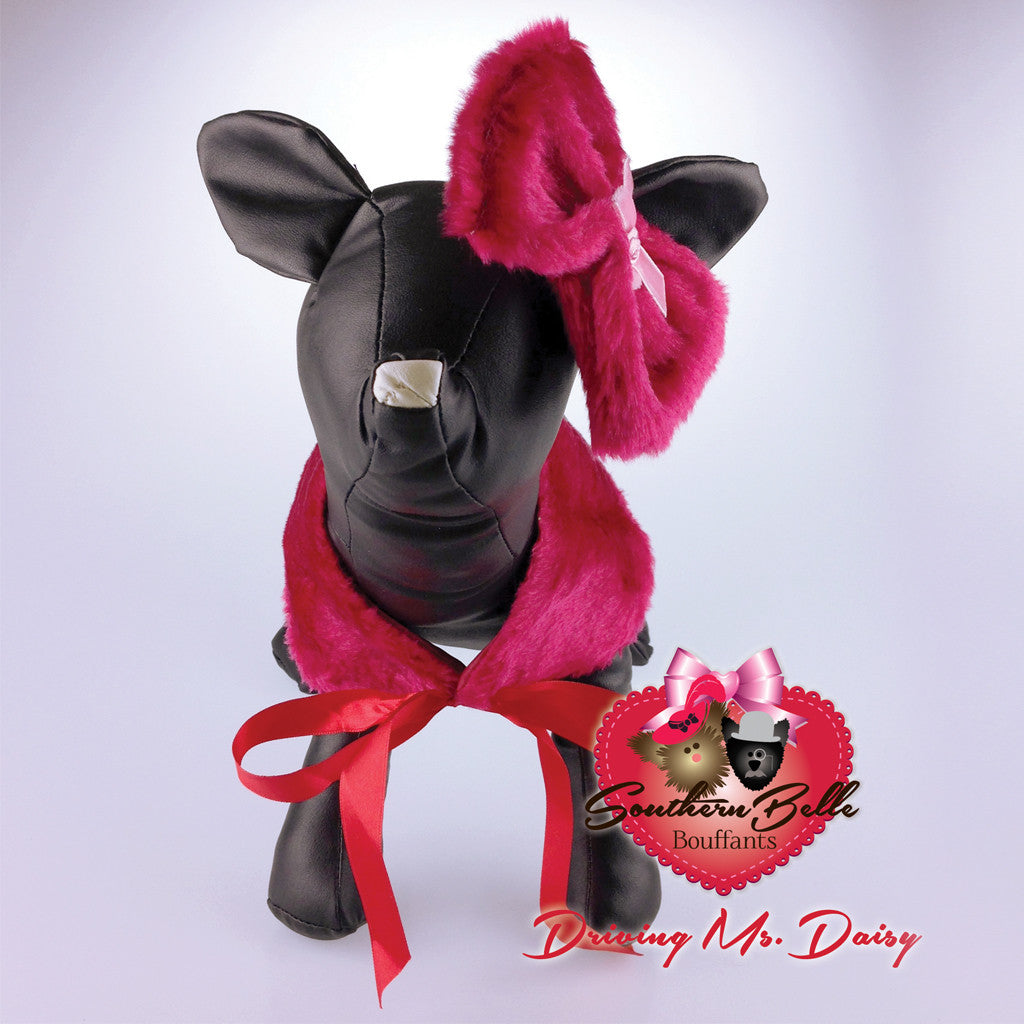 Southern Belle Dog Shawl & Bow - Driving Ms. Daisy