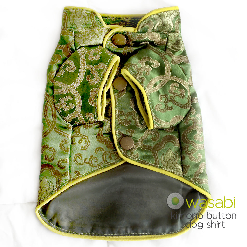 Lime Kimono Button Up Dog Shirt- Wasabi