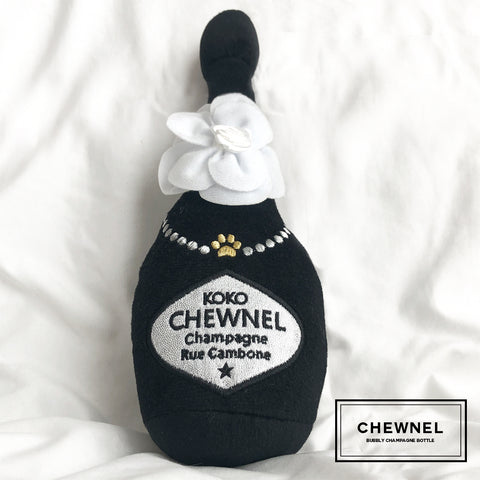 Dog Toys- Chewnel Bubbly Champaign Squeaky, Small Dog Toy