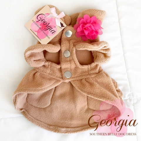 Georgia- Elegant Warm Fleece Dog Dress