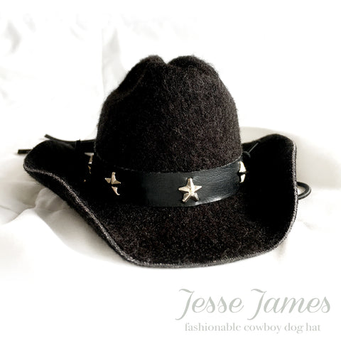 Jesse James, Black Cowboy Dog Hat