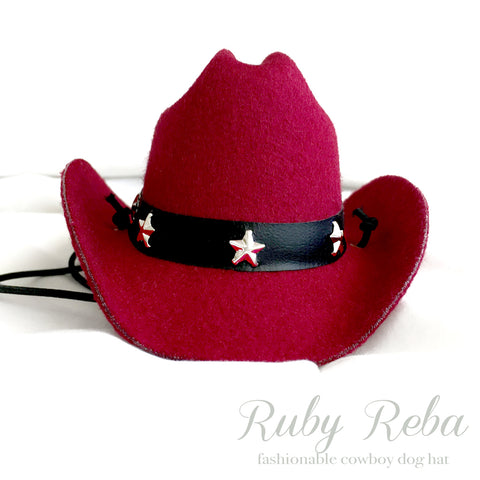 Ruby Reba, Red Cowboy Dog Hat
