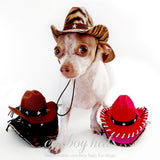Billy the Kid Brown Cowboy Dog Hat