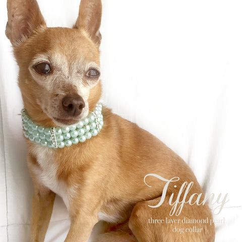 Tiffany- Three layer Diamonds and Pearls Dog Collar Necklace