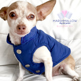Marshmallow- Blueberry Hill Ski Jacket for Dogs, Winter Dog Coats