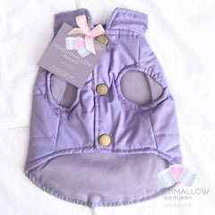Marshmallow Ski Jacket Dog Coat- Lavender