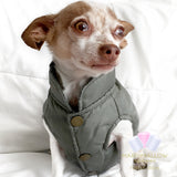 Marshmallow-Forest Green Ski Jacket for Dogs, Winter Dog Coats
