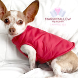 Marshmallow- Campfire Red Ski Jacket for Dogs, Winter Dog Coats