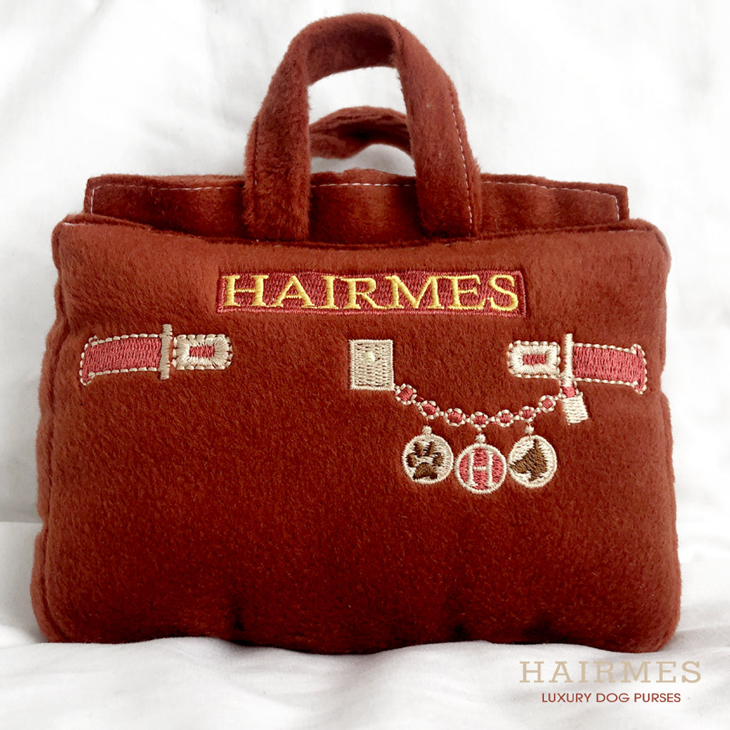 Hairmes Designer Dog Purse, Plush Squeaky Dog Toy