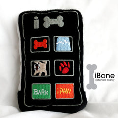 iBone Cell Phone Dog Toy, Plush Squeaky Dog Toy