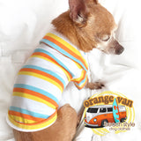 Orange Van-Tommy Sunkist Striped Dog Shirt