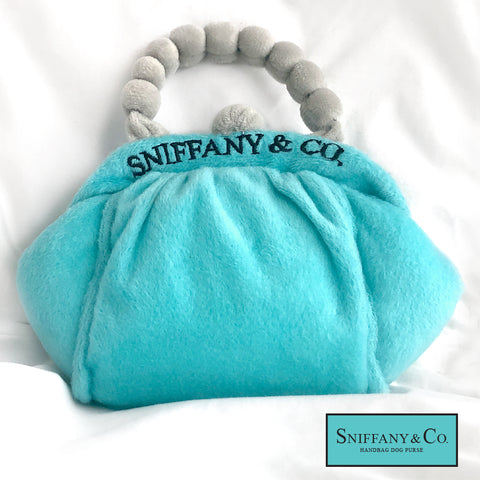 Sniffany & Co. Squeaky Small Dog Toy Purse, Soft Plush Dog Toys
