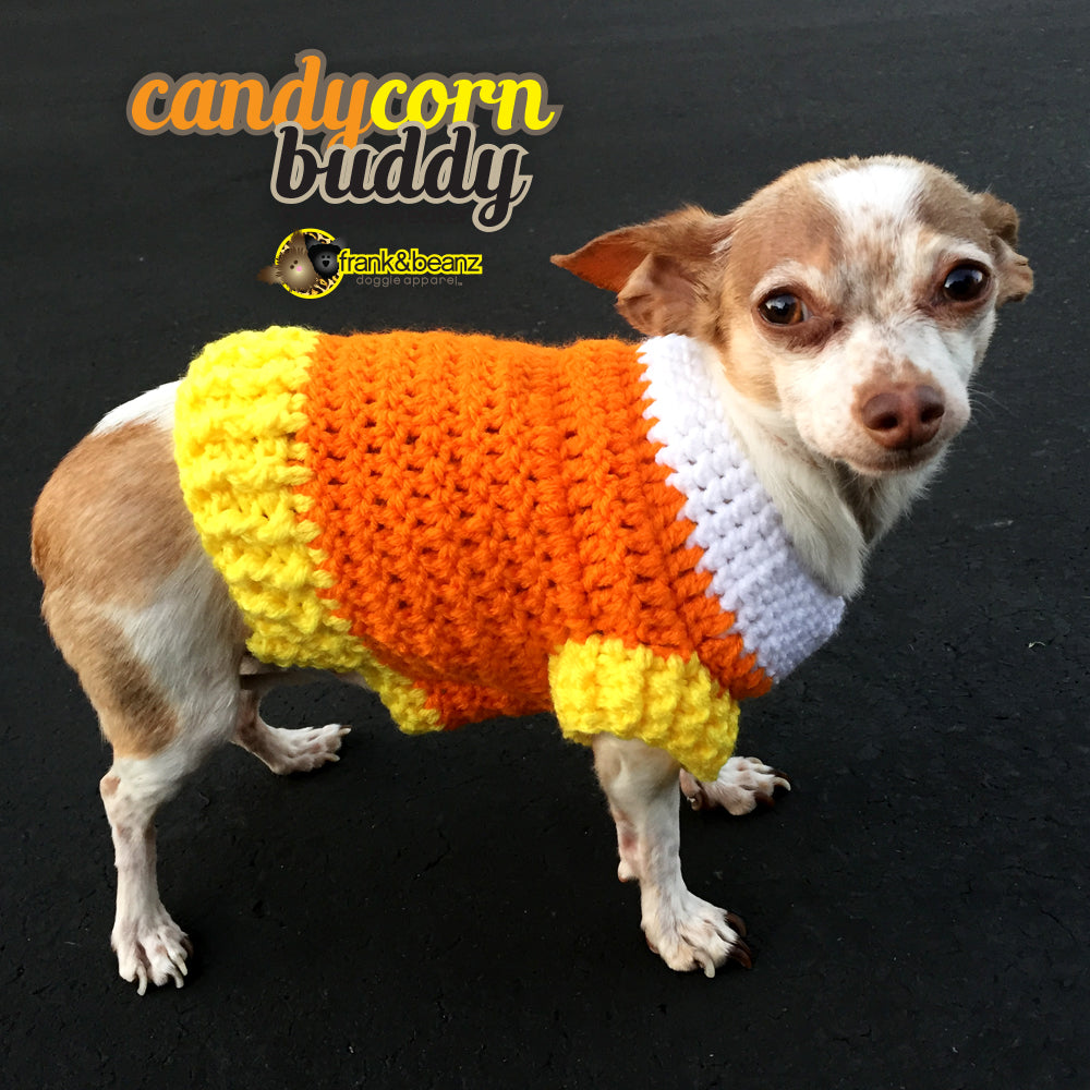 dog clothes candy corn dog sweater halloween dog costume