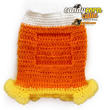 Candy Corn Dog Sweater, Dog Dress, Dog Clothes, Halloween Dog Dress, Dog Costumes