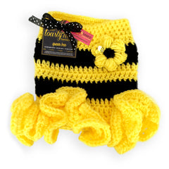 Queen Bee Crochet Dog Dress