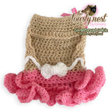 Gingerbread Cookie Strawberry Shortbread Crochet Holiday Dog Dress