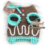 Gingerbread Cookie Dog Sweater - Mocha Mint