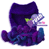 RUSH Grape Fizz Dog Crochet Dress