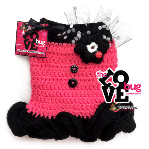 The Love Bug Crochet Dog Dress Sweater