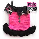 Pink Rock -Punk'd Out Crochet Dog Dress